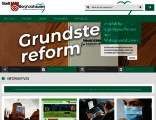 borgholzhausen.de screenshot