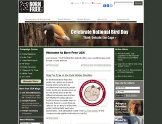 bornfreeusa.org screenshot