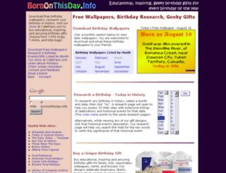 bornonthisday.info screenshot