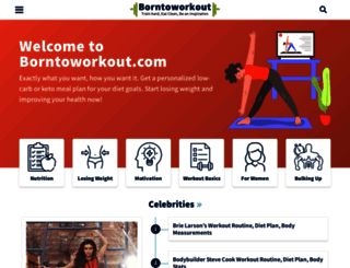 borntoworkout.com screenshot