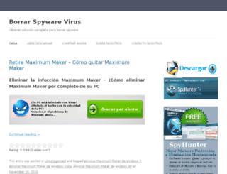 borrarspywarevirus.com screenshot