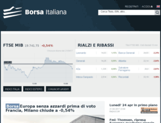 borsaitaliana.it screenshot