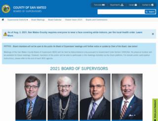 bos.smcgov.org screenshot