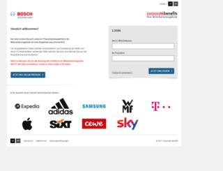 bosch.mitarbeiterangebote.de screenshot