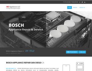 boschappliancerepairsandiego.com screenshot