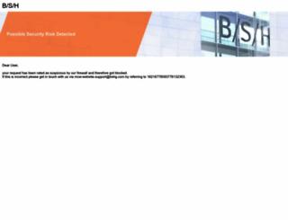 boschappliances.com screenshot