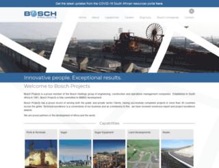 boschprojects.co.za screenshot