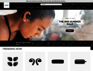 bose.com screenshot