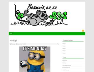 bosmuis.co.za screenshot