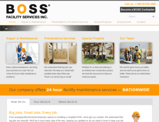 bossfacilityservices.com screenshot