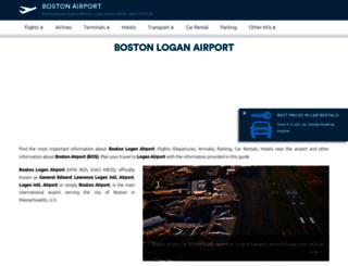 boston-airport.com screenshot