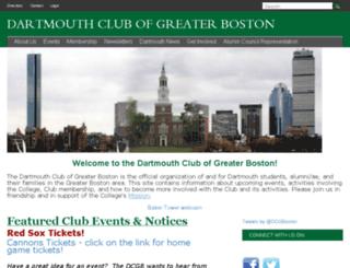 boston.dartmouth.org screenshot