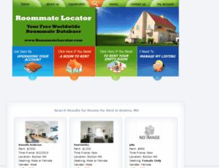 boston.roommatelocator.com screenshot