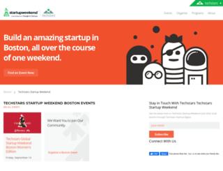 boston.startupweekend.org screenshot