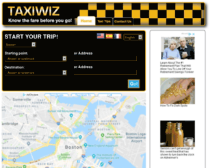 boston.taxiwiz.com screenshot