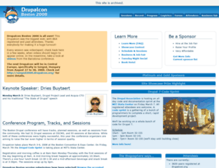 boston2008.drupalcon.org screenshot