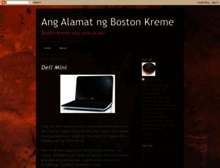 bostongkreme.blogspot.com screenshot