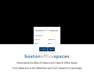 bostonofficespaces.com screenshot