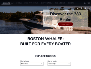 bostonwhaler.com screenshot