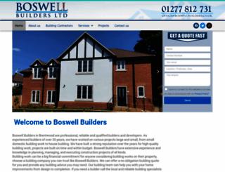boswellbuildersltd.co.uk screenshot