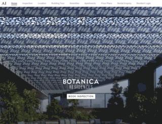 botanicaresidences.com.au screenshot