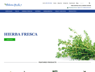 botanicayoruba7.com screenshot