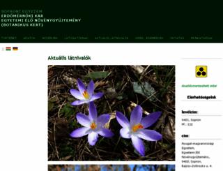 botanikuskert.nyme.hu screenshot