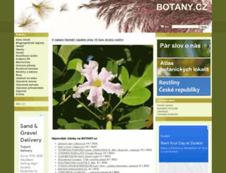 botany.cz screenshot
