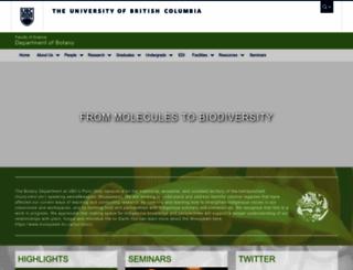botany.ubc.ca screenshot