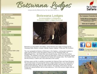 botswanalodges.net screenshot