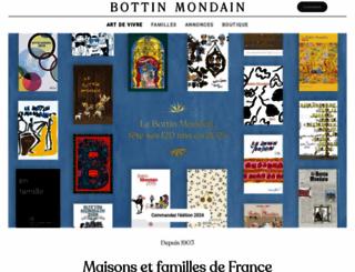 bottin-mondain.fr screenshot