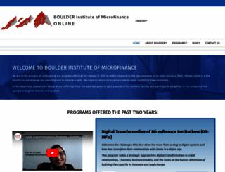 bouldermicrofinance.org screenshot