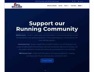 boulderroadrunners.org screenshot