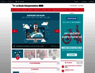 boule-dieupentale.clubeo.com screenshot