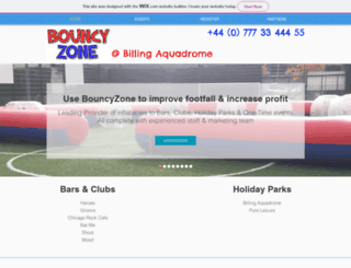 bouncyzone.co.uk screenshot