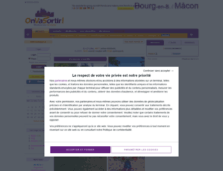 bourg-en-bresse.onvasortir.com screenshot
