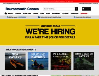 bournemouthcanoes.co.uk screenshot