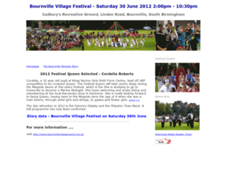 bournvillefestival.org.uk screenshot
