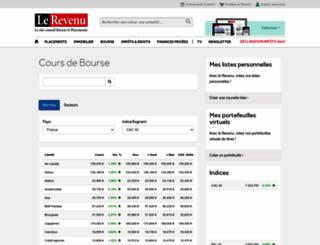 bourse.lerevenu.com screenshot