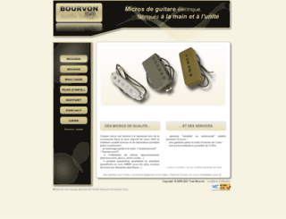 bourvonaudiodesign.fr screenshot