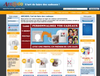 boutique.arcado.fr screenshot