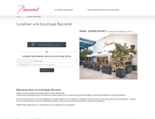 boutique.baccarat.fr screenshot