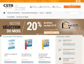 boutique.cstb.fr screenshot