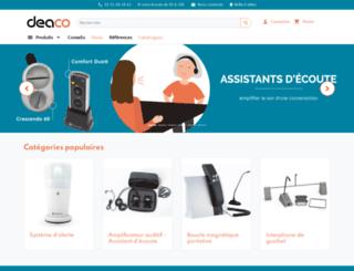 boutique.deaco.fr screenshot