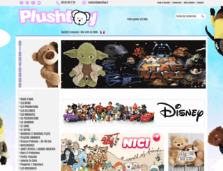 boutique.plushtoy.fr screenshot