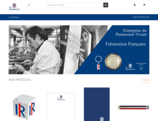boutique.republicains.fr screenshot