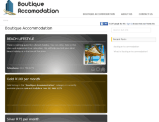boutiqueaccommodation.co.za screenshot