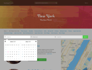 boutiquehotels-newyork.com screenshot