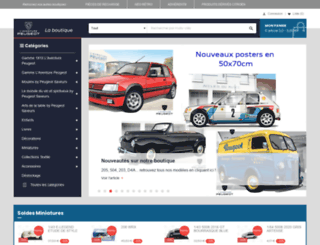 boutiquemusee.peugeot.com screenshot