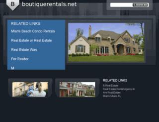 boutiquerentals.net screenshot